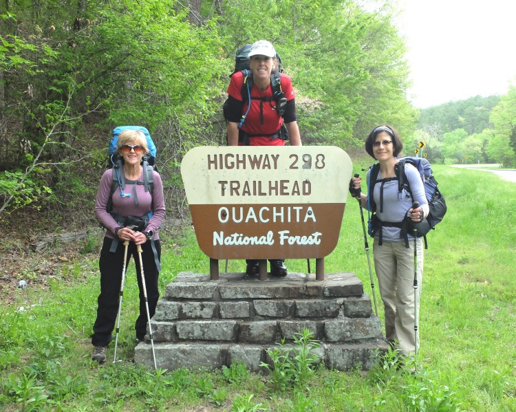 Deb, Mary and Pam at the Highway 298 Trailhead