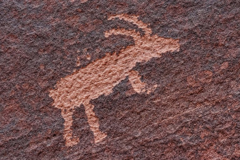 One of several petroglyphs at the confluence of Wire Pass and Buckskin Gulch