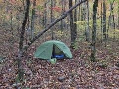 My tent at the Jack Creek campsite