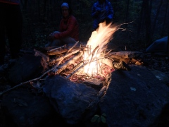 Our camp fire at Jack Creek