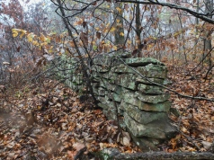 Old rock wall on Hare Mountain