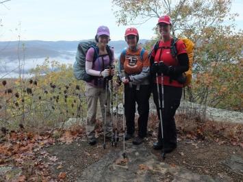 View at mile 61.6, atop Wolf Ridge