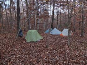 Lewis Prong Creek 2 camp