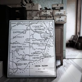 Map of the Creek Nation circa 1898 in an upper story office of the Kennedy Building