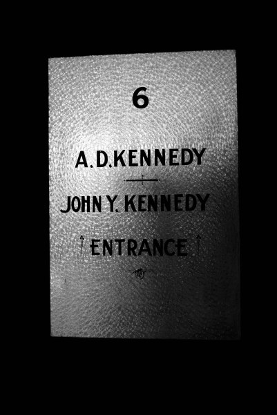 Office door in the Kennedy Building
