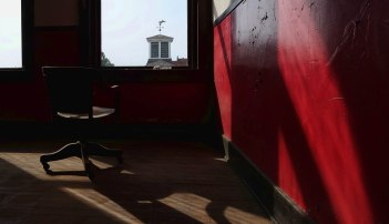 View of the cupola on top of the Council House from the Kennedy Building