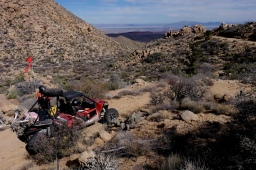 A great view of Tiberio's Arctic Cat looking east toward the Sea of Cortez