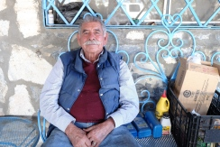 Pablo Esparza, Tiberio's father, at his home in La Rumorosa